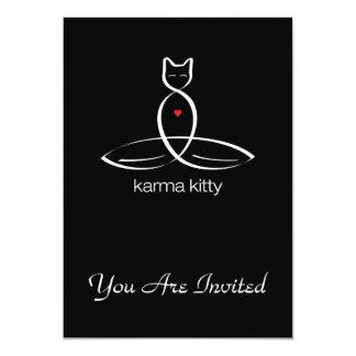 Karma Kitty - Regular style text. 5x7 Paper Invitation Card