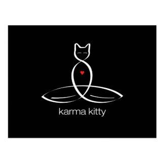Karma Kitty - Regular style text. Postcard