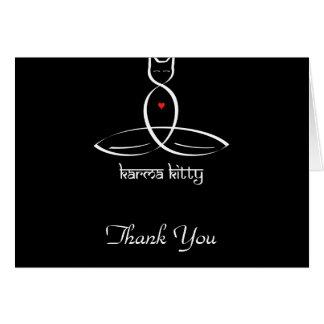 Karma Kitty - Sanskrit style text. Stationery Note Card