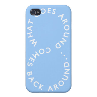 Karma - Light Blue iPhone 4/4S Cover