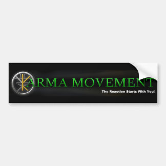 Karma Movement - Positive Karma is a Lifestyle! Car Bumper Sticker
