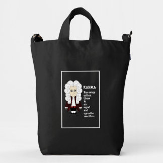 Karma & Newton's 3rd Law (Dark Background) Duck Bag