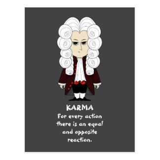 Karma & Newton's 3rd Law (Dark Background) Postcard