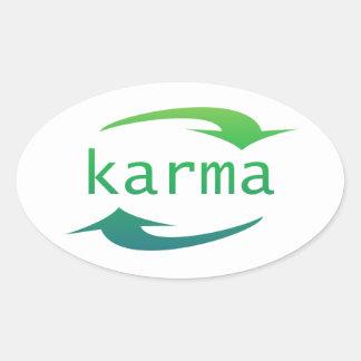 Karma Oval Stickers