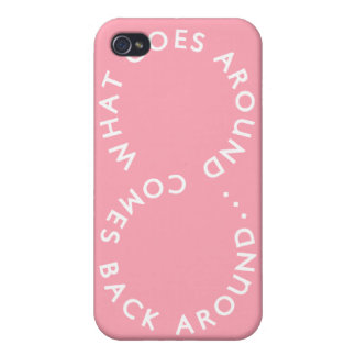 Karma - Pink iPhone 4 Cases