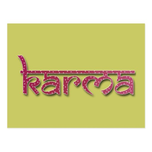 karma postcards