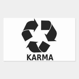 Karma Rectangular Sticker