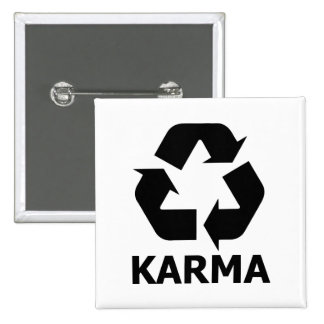 Karma Recycle 2 Inch Square Button