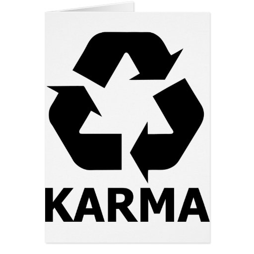 Karma Recycle Card