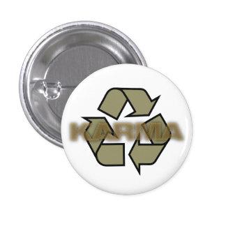 karma recycle logo 1 inch round button