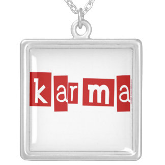 Karma Silver Plated Necklace