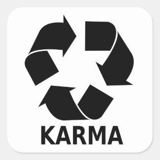 Karma Square Sticker