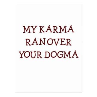 Karma vs Dogma Postcard