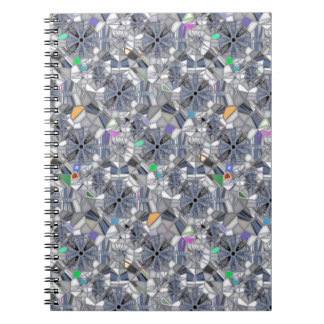 Karma Wheels Stained Glass Style Notebook