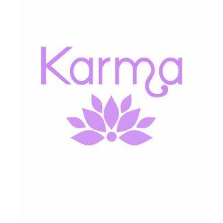 Karma with Lotus Flower Tshirt shirt