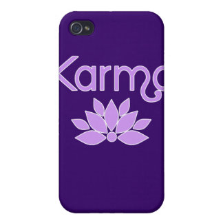 Karma with Lotus Flower Tshirt iPhone 4/4S Cases