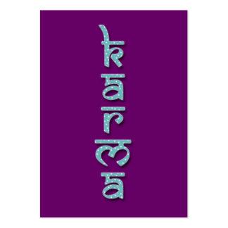 karmas - aguamarina tarjeta de visita