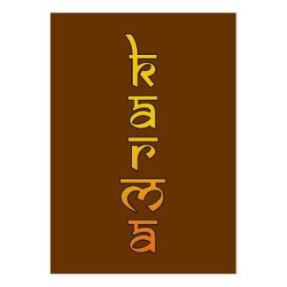 karmas - amarillo tarjeta de visita