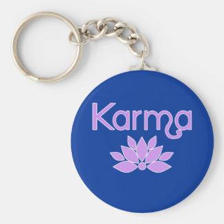 Karmas con la camiseta de la flor de Lotus Llavero Redondo Tipo Pin