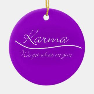Karmas - conseguimos lo que damos adornos de navidad