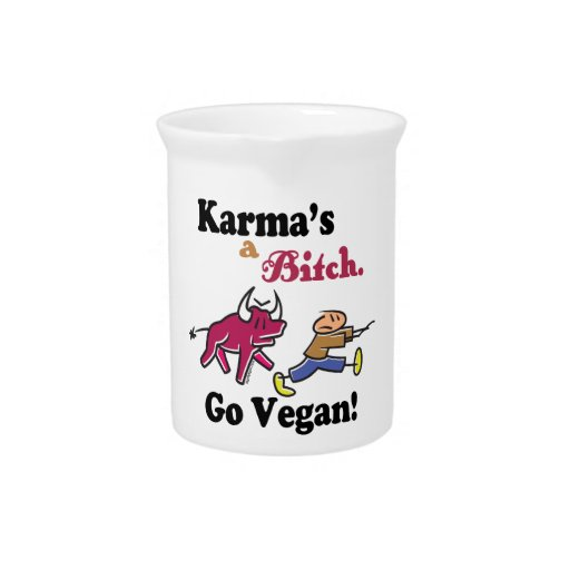 Karmas del vegano jarras de beber