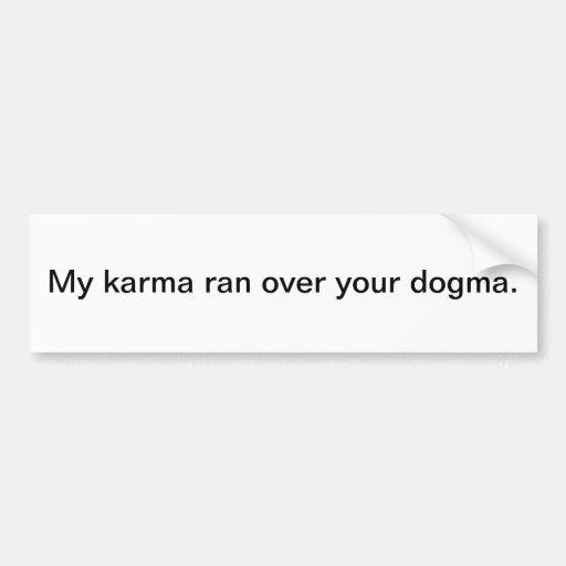 Karmas Etiqueta De Parachoque