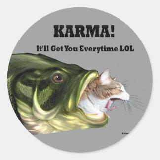 ¡Karmas! Pegatina Redonda