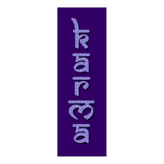karmas - púrpura tarjeta de visita