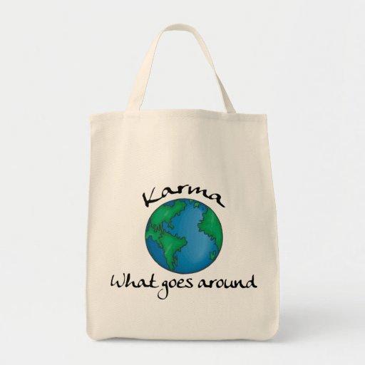 Karmas qué circunda el regalo bolsas