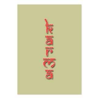 karmas - rojo plantillas de tarjeta de negocio