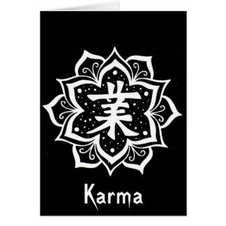 Karmas Tarjeta De Felicitación