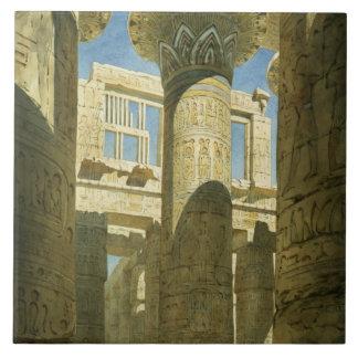Karnak, c.1866 (w/c en el papel) azulejo cuadrado grande