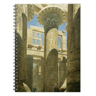 Karnak, c.1866 (w/c en el papel) libro de apuntes con espiral