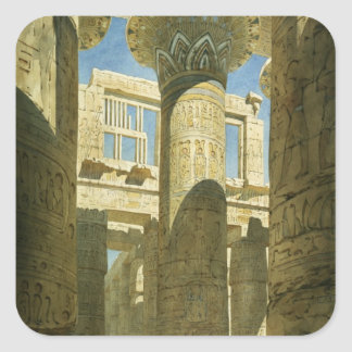 Karnak, c.1866 (w/c en el papel) pegatina cuadrada