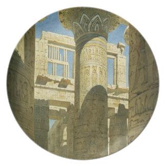 Karnak, c.1866 (w/c en el papel) plato para fiesta