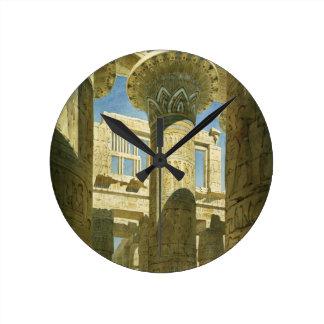 Karnak, c.1866 (w/c en el papel) reloj redondo mediano