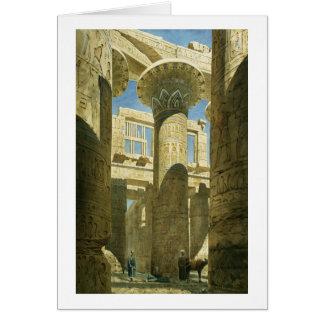 Karnak, c.1866 (w/c en el papel) tarjeta de felicitación