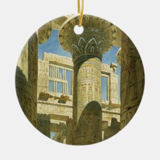 Karnak, c.1866 (w/c on paper) ceramic ornament