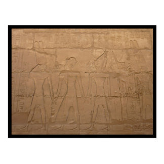 karnak carvings postcard