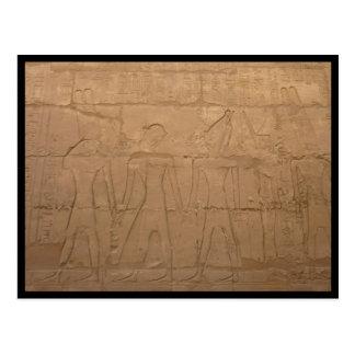 karnak carvings postcard