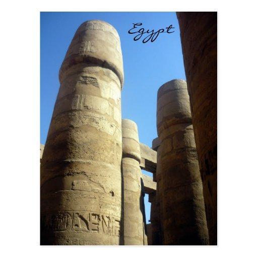 karnak column postcard