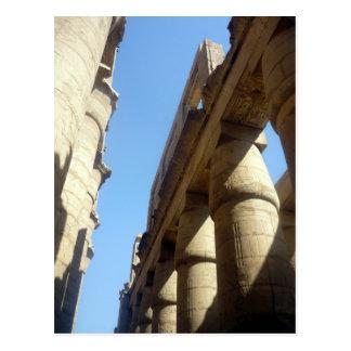 karnak column tops post card
