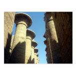 karnak columns postcard