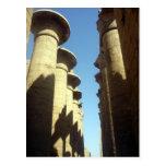 karnak de las columnas tarjetas postales