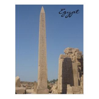 karnak obelisk postcard
