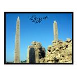 karnak obelisks egypt postcard