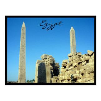 karnak obelisks egypt post cards