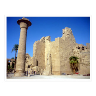 karnak walls egypt postcard