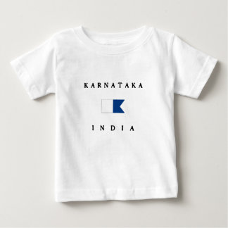 Karnataka India Alpha Dive Flag Baby T-Shirt