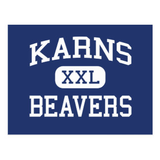 Karns Beavers Middle Knoxville Tennessee Postcard